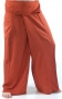 Rayon fisherman trousers, yoga trouser rust-orange
