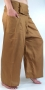 Rayon fisherman trousers, yoga trouser mustard color