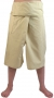 3/4 thai-fisherman trousers, yoga trouser naturalal white