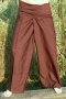 Cotton-fisherman trousers, yoga trouser made in Nepal chocolate brown