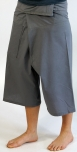 3/4 thai-fisherman trousers, yoga trouser grey
