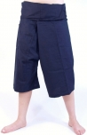3/4 thai-fisherman trousers, yoga trouser marine- blue