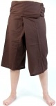 3/4 thai-fisherman trousers, yoga trouser mocha brown