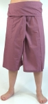 3/4 thai-fisherman trousers, yoga trouser purplec